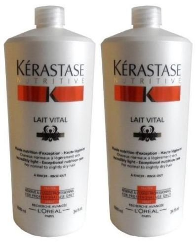 Pack Vital : 2 X Lait Vital 1000ml Kerastase Good Care Hair