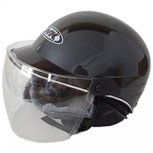 Ezyoutdoor Half Helmets Motorcycle Scooter Mens Winter Women Warm-fog UV helmets Motorcycle Helmets Electric Car Helmet (black)