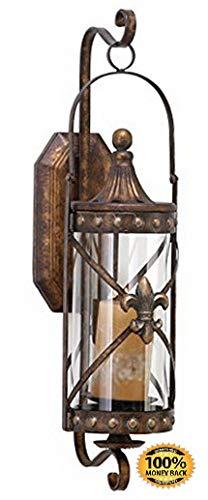 ArtMuseKit 68391 Metal Glass Candle Sconce, 20
