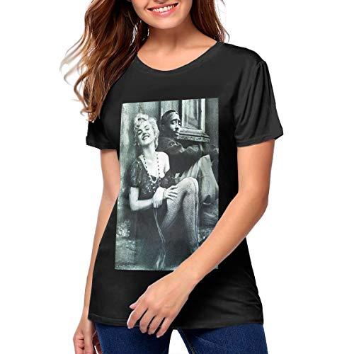 Marilyn Monroe Couple Tshirts Printed Shirt Basic Shirt Womens 〠Black -