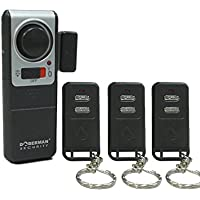 WER Security Wireless Door Alarm with 3 Remote Controls