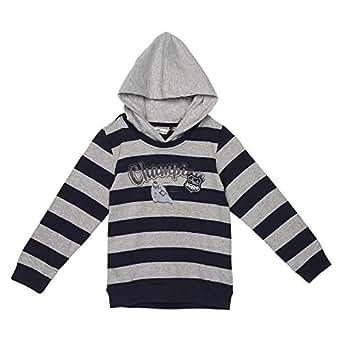 Antscastle Blue & Grey Round Neck Hoodie & Sweatshirt For Boys