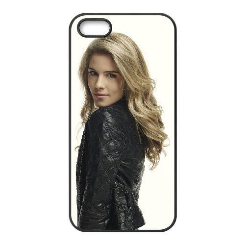 Felicity Smoak 002 coque iPhone 5 5S cellulaire cas coque de téléphone cas téléphone cellulaire noir couvercle EOKXLLNCD23663