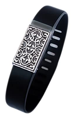 Fitbit bling jewelry Fitbit Flex jewelry accessory - JUNE (Antique Silver Plated)