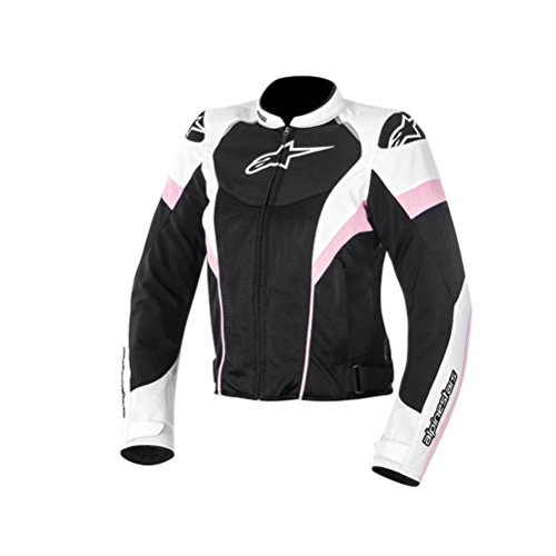 Alpinestars Stella T-GP Plus Air Jacket, Gender: Womens, Primary Color: Black, Size: XS, Apparel Material: Textile, Distinct Name: Black/White/Pink 3310614-130-XS
