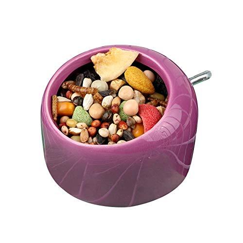 (OMEM Mini Ceramic Feeder, Bird Cage Feeder, Chewing Food Dish for Small Rodents, Bird Outdoor Feeding Trough, Storage Feed Supplies)