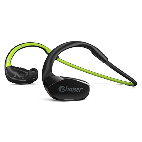 Phaiser FlexCore Gen-5 Bluetooth Headphones, Wireless Earbuds Stereo Earphones for Running with Mic and Lifetime Sweatproof Guarantee, Limegreen