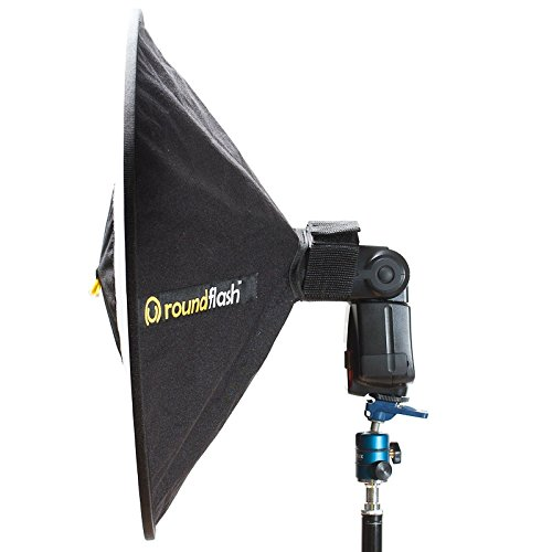 RoundFlash Beauty Dish Collapsible Softbox for Nikon, Canon, Sony, Pentax, Olympus, Panasonic Lumix, Neewer, Yongnuo External On-Camera Shoe-Mounted Flash Units by RoundFlash (Image #2)