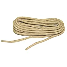 Light Tan Brown proBOOT(tm) Rugged Wear boot round shoelaces - (2 pair pack)