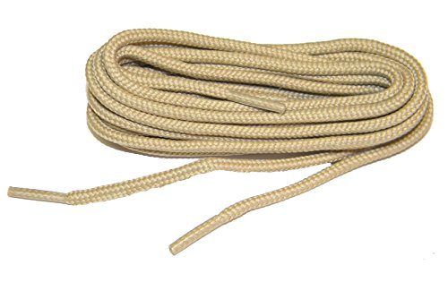 Light Tan Brown proBOOT(tm) Rugged Wear boot round shoelaces - (2 pair pack) (72 Inch 183 (Wear Shoe Boot)