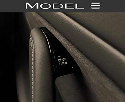 Tesla Model 3 'Door Open' Button Label Sticker - Label Labels Accessories