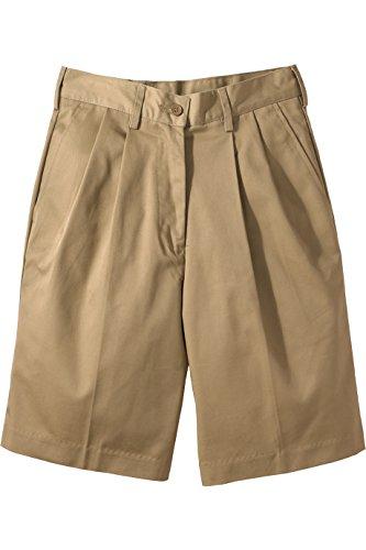 Women : Pleated Shorts Khaki - 7