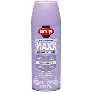 Krylon K09122000 COVERMAXX Spray Paint, Gloss Gum Drop, 12 Ounce