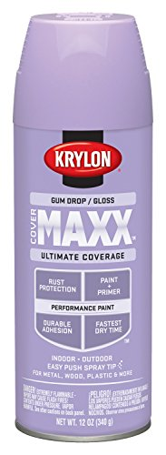 Krylon K09122000 COVERMAXX Spray Paint, Gloss Gum Drop, 12 Ounce