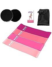 Tomshoo - Bandas de resistencia para fitness (5 unidades, con instrucciones de ejercicios, látex natural para musculación, yoga, pilates para hombres y mujeres)