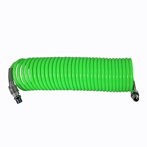 """Plastair RH-325-4F-AMZ Lawn and Garden Recoil Air Hose, 1/4"""" x 25', Fluorescent Green"""