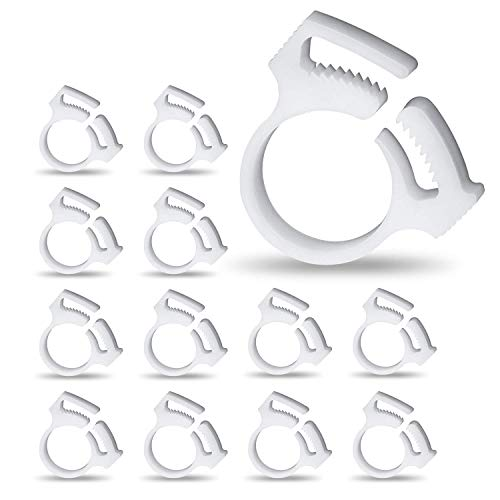 UNC7E 12Pack Sweep Hose Attachment Clamp for Cleaner B15 Replacement, Compatible with Polaris Pool Cleaner 180,280,360,380,480,Polaris Clip b15 Replacement