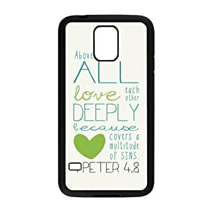 Custom Bible Vers Hard Back Cover Case for Samsung Galaxy S5 OI-56