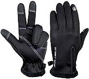 Winter Cycling Gloves for Men Women Running Bike Touch Screen Thin Warm Windproof