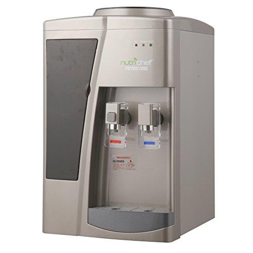 Nutrichef Countertop Water Cooler Dispenser - Hot &
