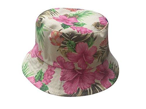 Acvip Soleil Femme Pliable Bob 44 Printemps fleur En Été Chapeau Fille De Polyester rYCqgrFwx