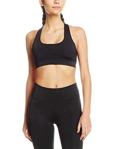 Intimuse - Damen Yoga Top mit Polsterung, Sport Shirt Donna Nero (Schwarz 001)