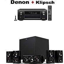 Denon AVR-X3500H 7.2-Channel AV Receiver with HEOS + Klipsch HDT-600 Home Theater System Bundle