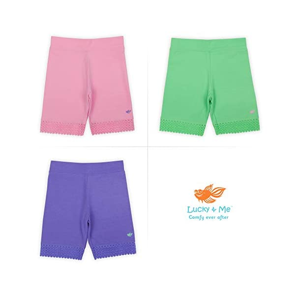 2 Pack Leah Girls Undershorts Lucky /& Me Childrens Tagless Shorts for Under Dresses /& Uniforms