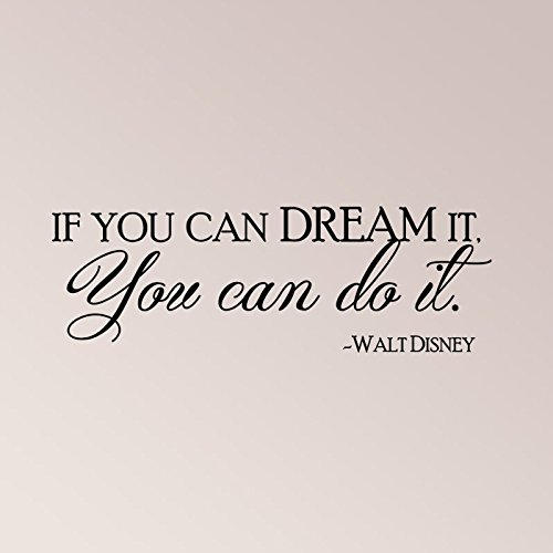 Dream Disney Quote Decal Sticker product image