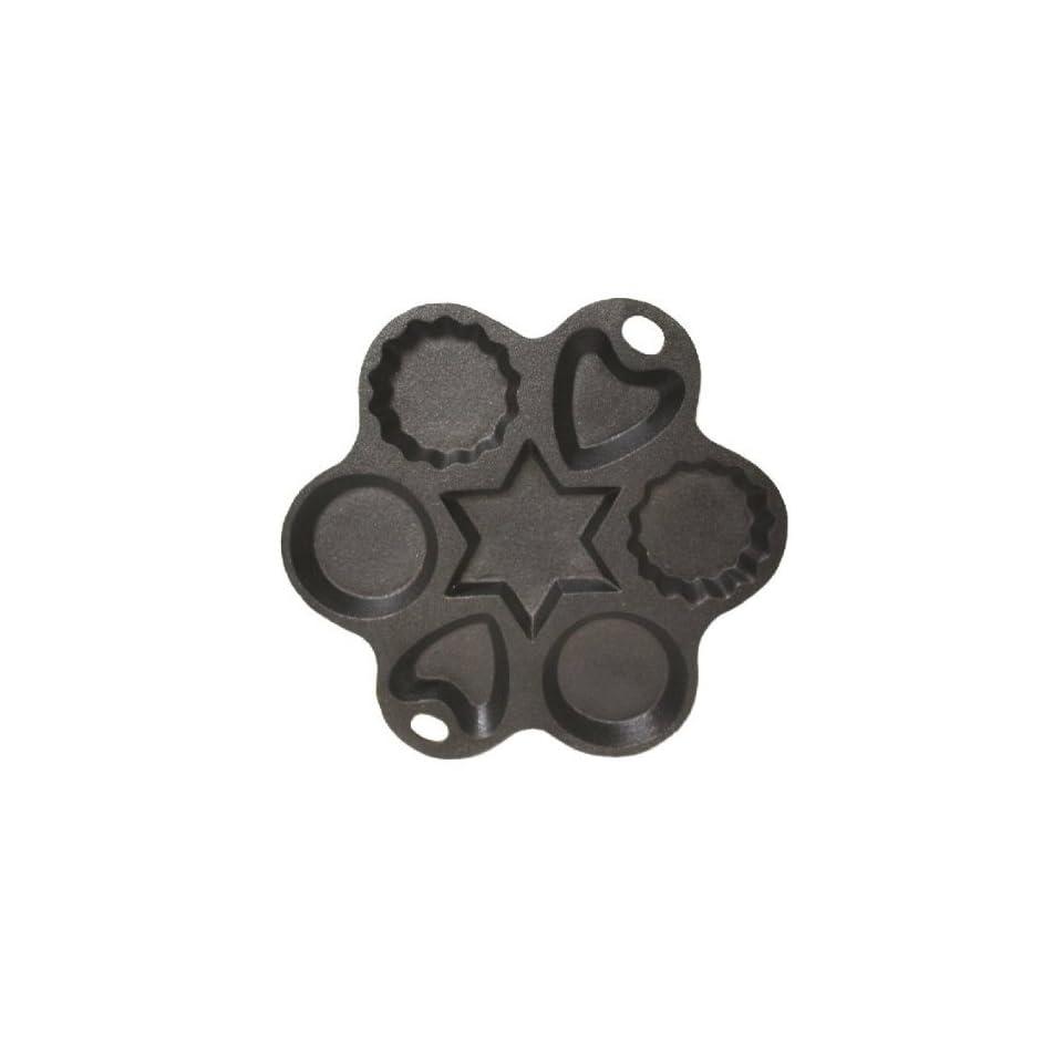 Cast Iron Multi Shape Cake Pan   8 Inch Diameter