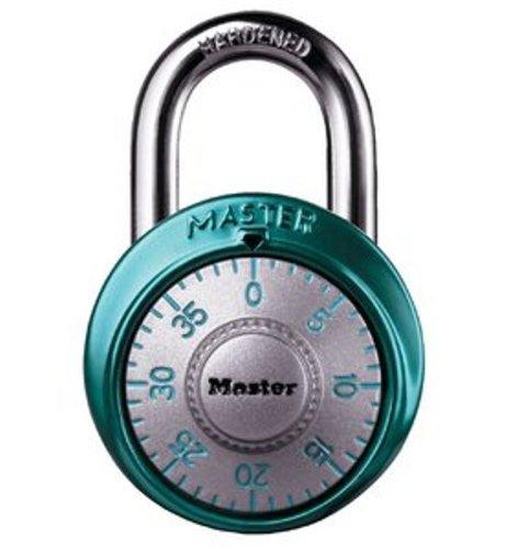Master Lock 1561Dltblu 8 unidades 1 - 7/8 pulgadas. Tapa de aluminio con candado de combinación, color azul claro: Amazon.es: Bricolaje y herramientas