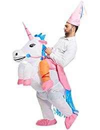 Inflatable Unicorn Rider Costume | Inflatable Costumes for Adults Or Child | Halloween Costume | Blow Up Costume