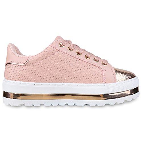 napoli-fashion - Zapatillas Mujer Rosa Gold