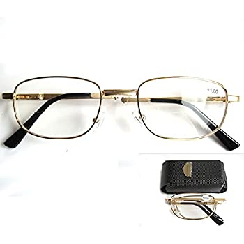 08cd7f6dff Extra Credit Clear Men Women Bifocal Rectangular Readers Reading Glasses  Portable Full Frame Foldable Folding Presbyopia Magnifying Eyeglasses 400