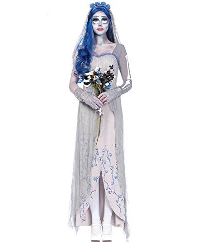 [Leg Avenue CO85521 Corspe Bride Women's Costume - Grey - Small/Medium] (Corspe Bride Costumes)