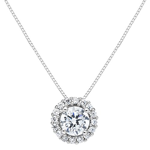 Solid 14k White Gold Pendant - Everyday Elegance | 14K Solid White Gold Pendant Necklace | Round