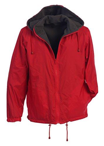 Gioberti Men's Reversible Windproof Rain Jacket With Polar Fleece Lining