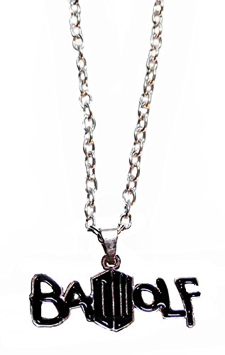 Doctor Who BAD WOLF Metal/Enamel PENDANT on 18 Inch (Bad Wolf Dr Who Costume)