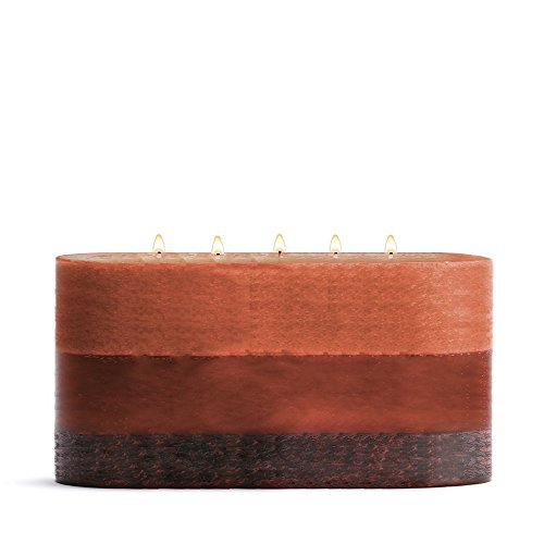 Stone Candles Fresh Furniture Scented Large Round Column Candle, 12-Inch by 6-Inch, Patchouli - Sandalwood Round Candle