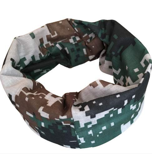 (Four in one Camouflage Seamless Turban Variety Magic Riding Sports Headscarf Outdoor Training Mask Digital Collar)