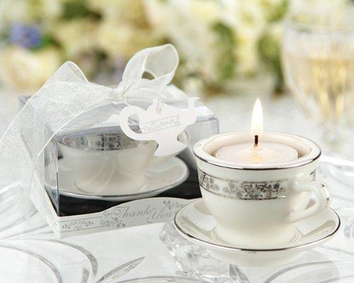 Teacups and Tealights Miniature Porcelain Tealight Holders - 48 by KateAspen