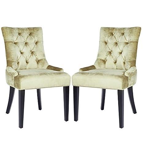 Amazon.com: Safavieh Ashley Side – Juego de 2 sillas de ...