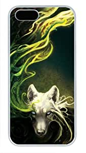 iCustomonline Case for iPhone 5S PC, White Wolf Ultimate Protection Case for iPhone 5S PC