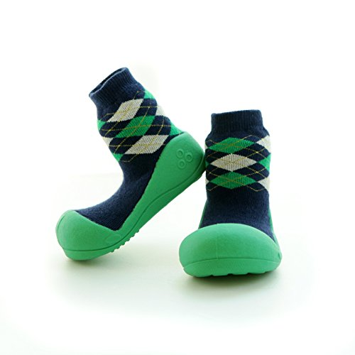 Green 3 Collezione 2 Calzini 24 Pantofole nbsp;mesi Per Inverno Blue 18 nbsp;anni Spessi 12 Bambini Attipas Bimbi Primi Scarpe 6 18 12 Caldo Passi wHxwq