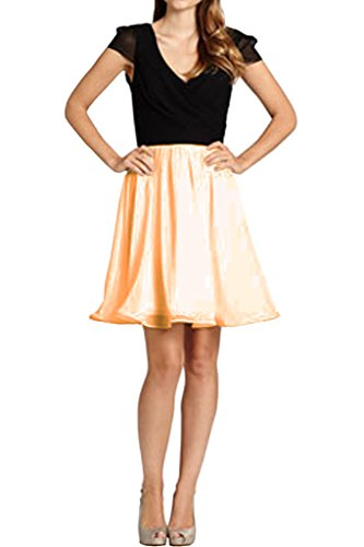 Cab Prom V Dress Light Shoulder Double Glamorpous Party Avril Dress Holiday Gown Neck Orange qHwEz6f