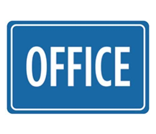 Business Metal Signs - Flyss Aluminum Metal Office Print Blue Notice Business Sign
