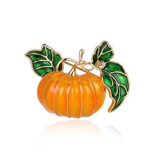 Mytys Pumpkin Brooch Pins Enamel Pin Jewelry Fashion Brooch Pin Jewelry Xmas Gift for Men Women