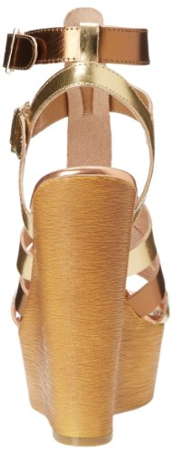 Chinese Laundry Women's Jump Drive Wedge Sandal Mixed Gold ZmMud