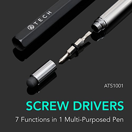 ATECH Multifunction Pen 7 in 1 Tech Tool Pen with Ruler, Stylus, Bottle Opener, 2 Screw Driver, and Phone Stand, Multifunction Tool Fit for Mens Gift (Black) by ATECH INNOVATION (Image #4)