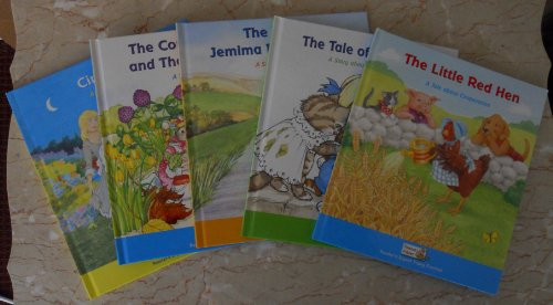 Set of five Famous Fables: (The Little Red Hen, Tale of Tom Kitten, Jemima Puddle-Duck, Country Mouse and City Mouse, & Cinderella) (Famous Fables)